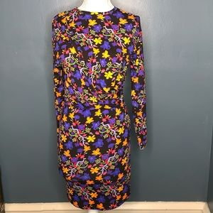 NWT ZARA MULTICOLORED FLORAL FLOWER DRESS